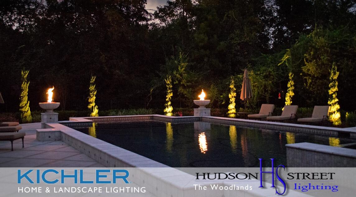 landscape lighting company in The Woodlands, TX spring