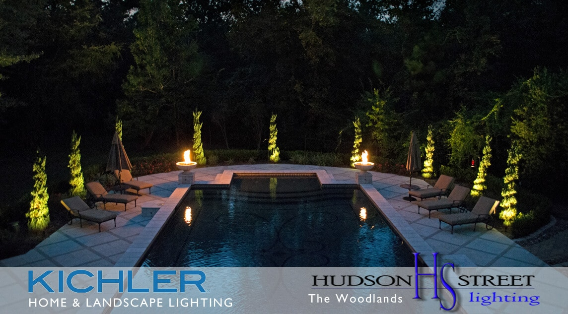 Image of: The Woodlands Tx Landscape Lighting Design Installations And Repairs