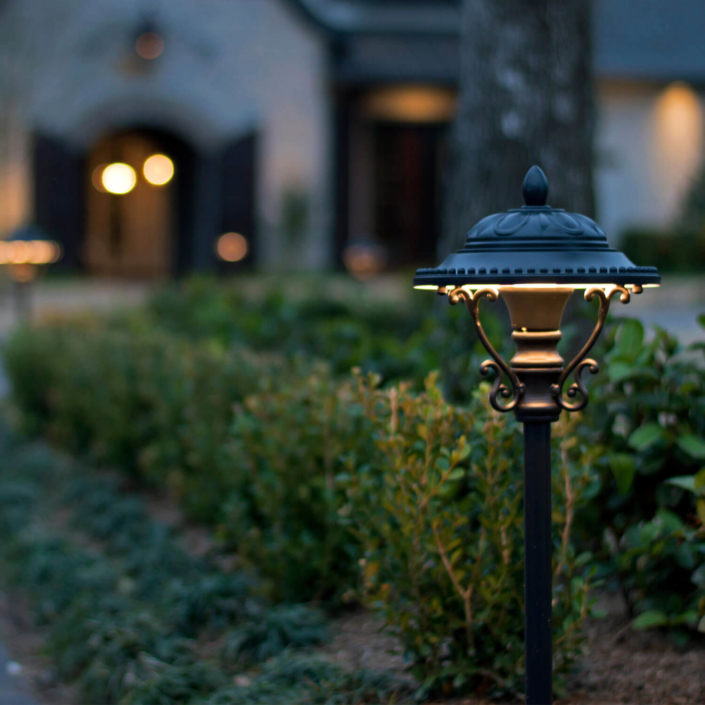 dome style decorative led landscape lights
