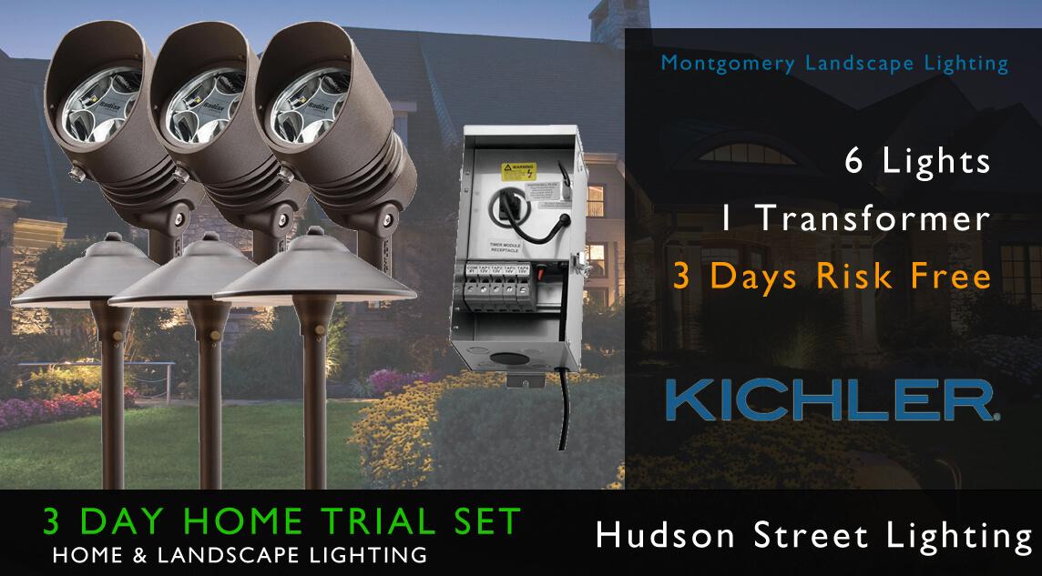 landscape lighting home trial kichler montgomery tx