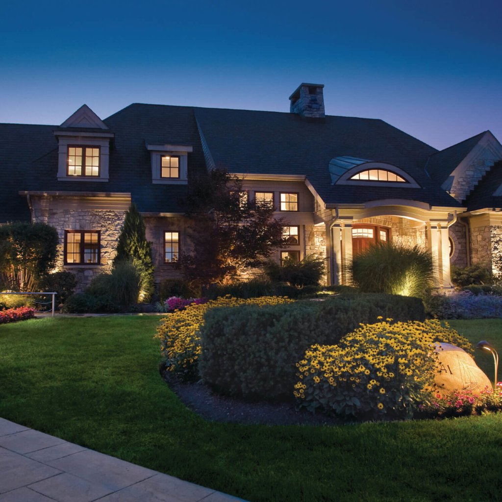 landscape led lighting home project example