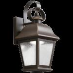 led light wall mount