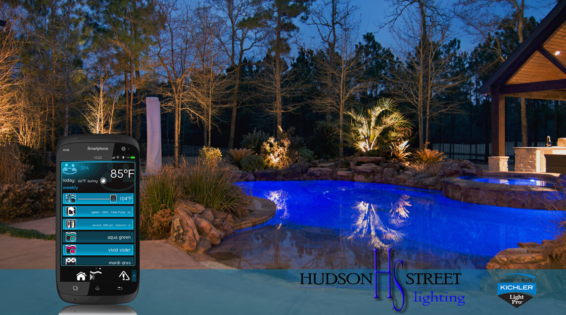 landscape lighting swimming pool wireless control system